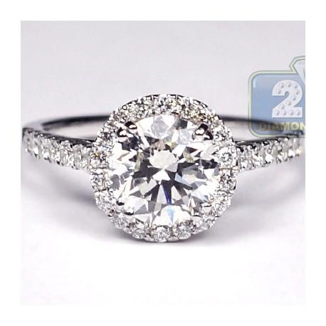 18k white gold 280 ct diamond engagement wedding ring womens set - White Gold Wedding Rings For Women