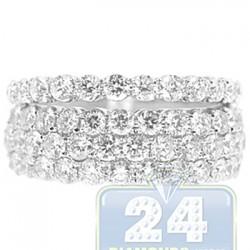 14K White Gold 2.66 ct Diamond Wedding Bands Womens Set