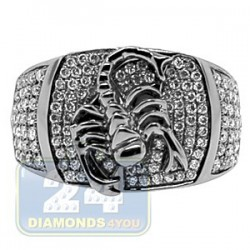 Black PVD 14K Gold 0.86 ct Diamond Mens Scorpio Ring