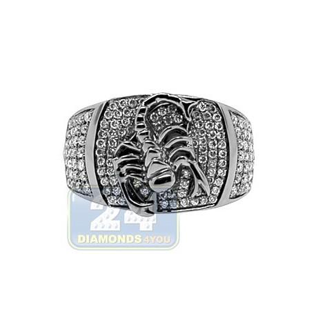 Black PVD 14K Gold 0.86 ct Diamond Mens Scorpion Ring