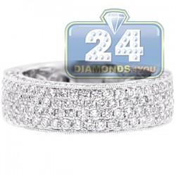 18K White Gold 2.13 ct Diamond Womens Wedding Ring