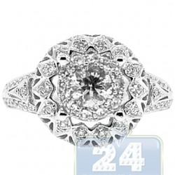 14K White Gold 1.00 ct Diamond Antique Engagement Ring