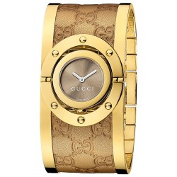 Gucci Twirl Large Yellow Gold PVD Womens Watch YA112434