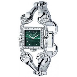 Gucci Signoria 18K White Gold Diamond Womens Watch YA116510