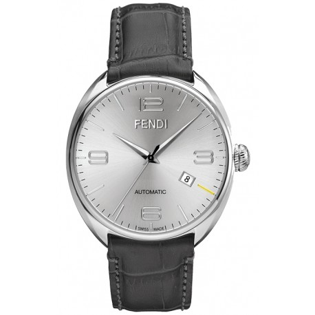 fendi fendimatic automatic leather silver mens