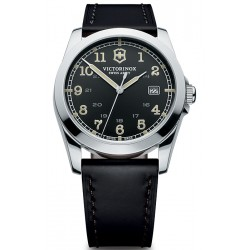 Swiss Army Infantry Black Leather Mens Watch 241584