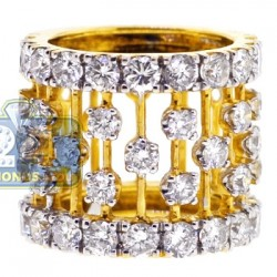 14K Yellow Gold 5.27 ct Diamond Womens Vintage Openwork Ring