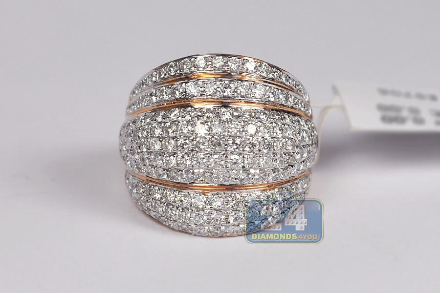 14k gold 2 55 ct womens wide ring