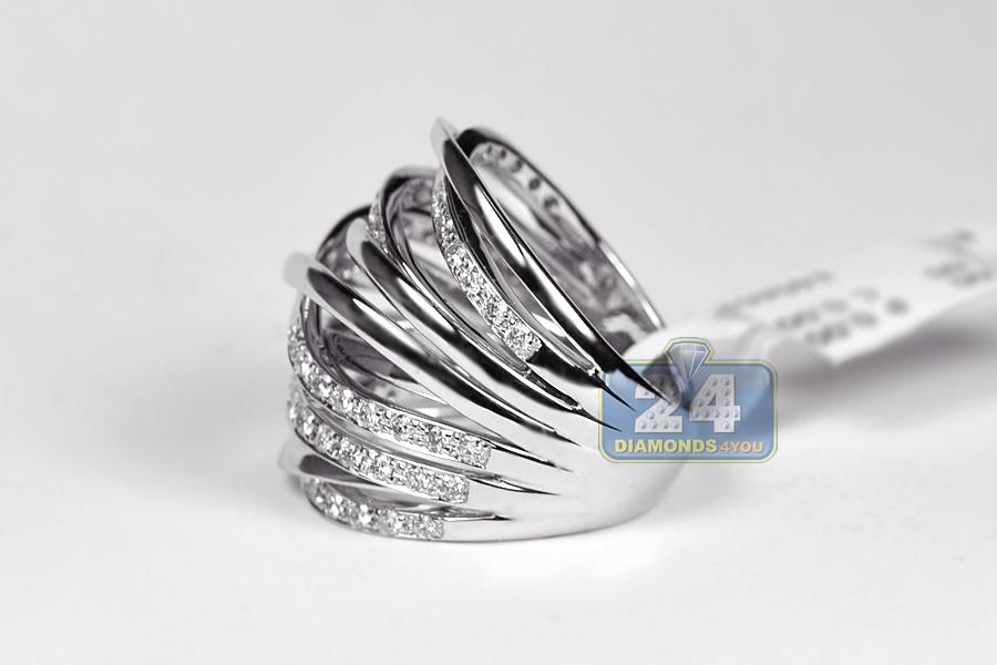 14k white gold 1 13 ct womens highway ring