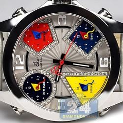 Jacob & Co Five Time Zone Diamond Accents 40 mm Watch JC-M57DA