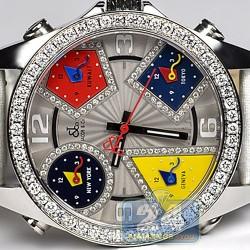 Jacob & Co Five Time Zone Diamond Bezel 40 mm Watch JC-M57DA