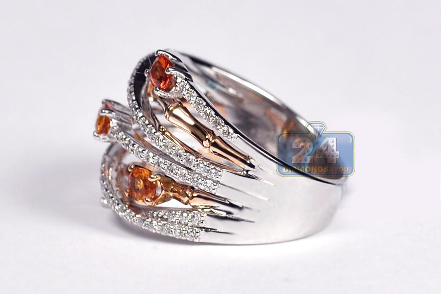 womens gemstone highway ring 18k white gold