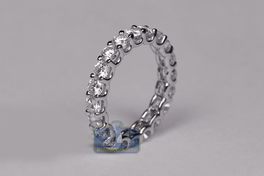 14k white gold ct round diamond womens eternity ring. Black Bedroom Furniture Sets. Home Design Ideas