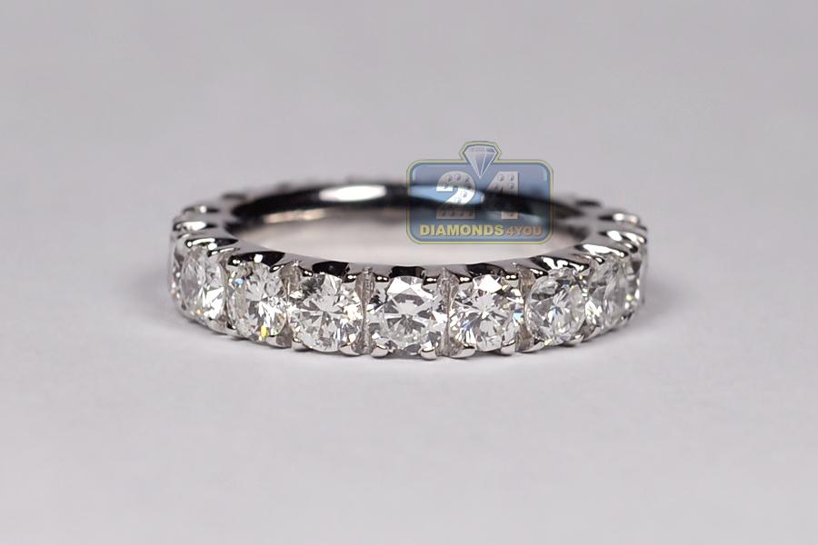 950 platinum ct round diamond womens eternity ring. Black Bedroom Furniture Sets. Home Design Ideas