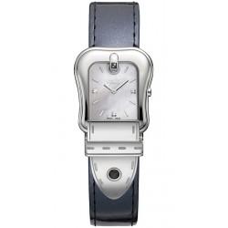 Fendi B.Fendi Glossy Gray Leather Watch F380024531D1