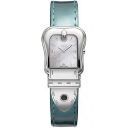 Fendi B.Fendi Glossy Green Leather Watch F380024581D1