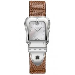 Fendi B.Fendi Brown Lizard Leather Watch F382024521D1