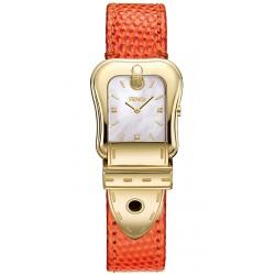 Fendi B.Fendi Yellow Gold Orange Leather Watch F382424591D1