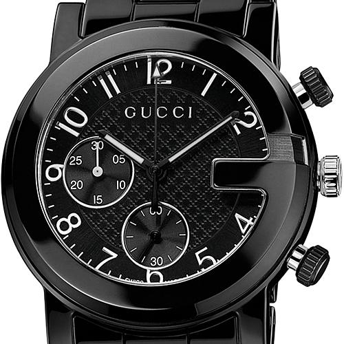 gucci g chrono black ceramic mens watch ya101352