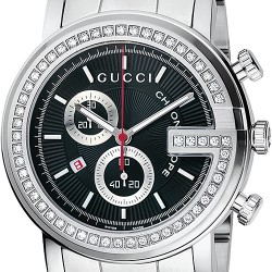 gucci g chrono black diamond mens watch ya101347 gucci g chrono diamond black steel mens watch ya101324