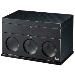 Triple Watch Winder Box 31-560030 Volta Belleview Carbon Fiber