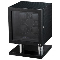 Quad Watch Winder Box 31-560040 Volta Signature Carbon Fiber