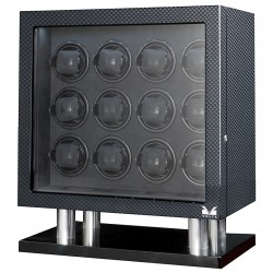 12 Watch Winder Cabinet 31-560120 Volta Signature Carbon Fiber