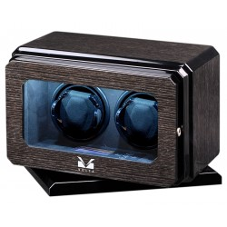 Double Watch Winder Box 31-570020 Volta Roadster Black Oak