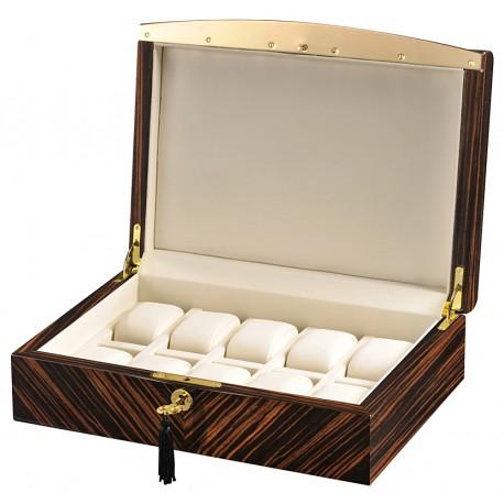 Volta Ebony Wood Cream Leather 10 Watch Case 31-560932