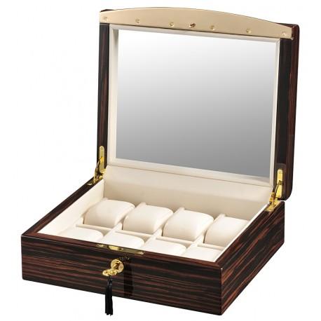 Volta Ebony Wood Cream Leather 8 Watch Case 31-560942