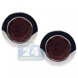 925 Sterling Silver 2.20 ct Ruby Womens Stud Earrings