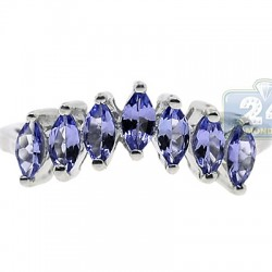 925 Sterling Silver 1.80 ct Tanzanite Womens Ring