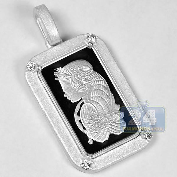 Pamp Suisse 5 Gram Fine Silver Fortuna Bar Diamond Frame