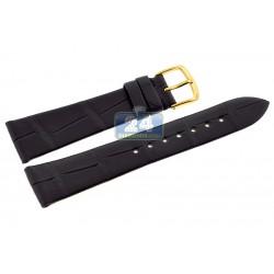 Hadley Roma Matte Black Genuine Alligator Leather Watch Strap MS823