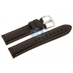 Hadley Roma Brown Genuine Calfskin Leather Watch Strap MS2036