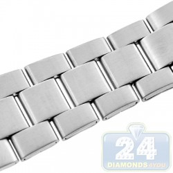 Hadley Roma Satin Link Steel Watch Band MB5916-W