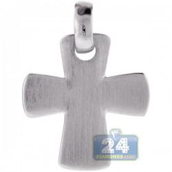 Italian Sterling Silver Maltese Cross Mens Pendant