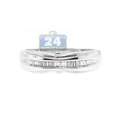 14K White Gold 0.16 ct Diamond Womens Band Ring