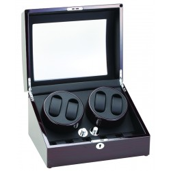 Diplomat Gothica Ebony Wood Four Watch Winder 31-426