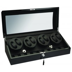 Diplomat Phantom Black Wood Eight Watch Winder 34-514