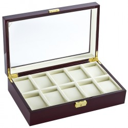 Diplomat Cherry Wood Ten Watch Display Box 31-57614