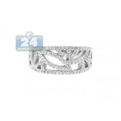14K White Gold 0.66 ct Diamond Womens Band Ring