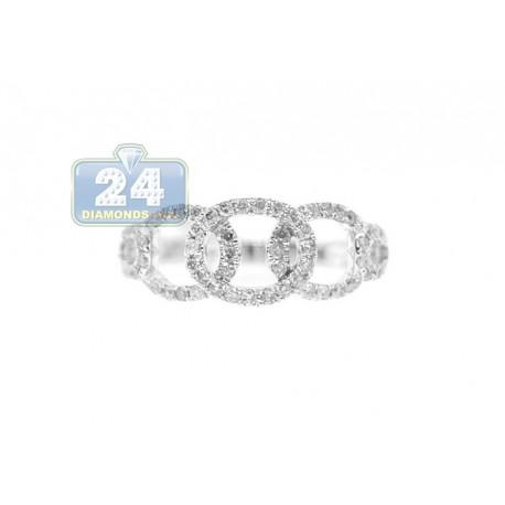 14K White Gold 0.44 ct Diamond Womens Ring