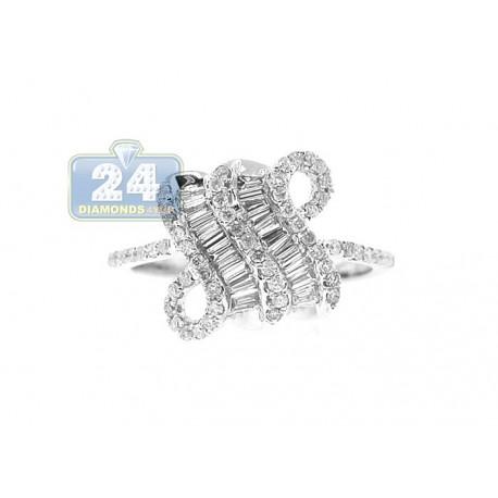 14K White Gold 0.70 ct Mixed Diamond Womens Ring