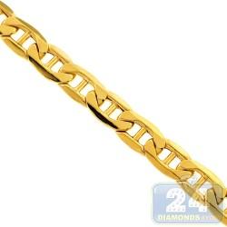 Italian 10K Yellow Gold Mariner Hollow Link Mens Chain 8 mm