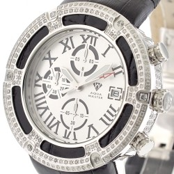 Aqua Master El Russo 5.35 ct Diamond White Dial Mens Watch