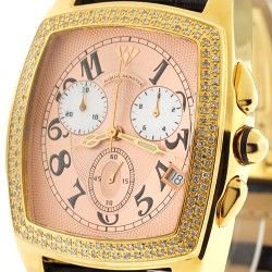 Mens Diamond Watch Aqua Master Square 1.50 ct Yellow Gold