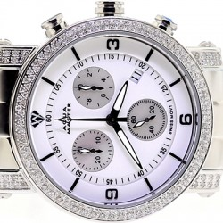 Womens Diamond Watch Aqua Master Round 1.75 ct White Dial