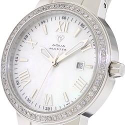Aqua Master Classic Round 0.70 ct Diamond Womens Steel Watch