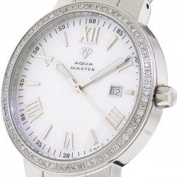 Aqua Master Classic Round 1.30 ct Diamond Mens Steel Watch